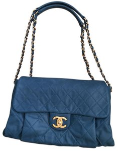 Chanel Flap Handbag Blue Shoulder Bag