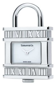 Tiffany & Co. Stainless Steel Atlas Charm Watch Padlock