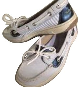 Sperry White light blue and a little navy Flats