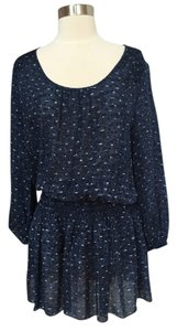 Joie short dress Dark blue/multi Day To Night Silk on Tradesy