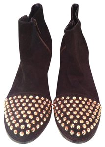 Steve Madden Bootie Studded Suede Black Boots