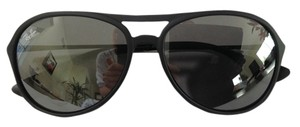 Ray-Ban Black Round Aviator Sunglasses