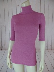 Michael Stars One M Pink Stretch Cotton Nylon Chic Sweater