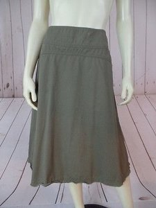 Banana Republic 0 Fringe Hem Paneled Chic Skirt Army Green Khaki