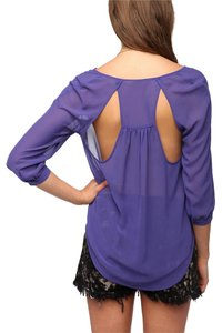 Sparkle & Fade Top purple