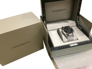 Emporio Armani Emporio Armani Swiss Made Stainless Steel Watch, 44mm for men