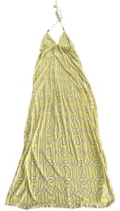 Yellow and brown Maxi Dress by T-Bags Los Angeles