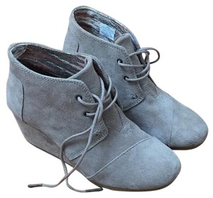 TOMS Gray/Taupe Wedges