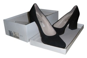 Saks Fifth Avenue Silk Vintage Evening Black Pumps
