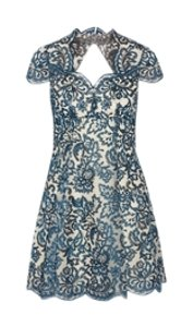 Marchesa Notte short dress Blue on Tradesy