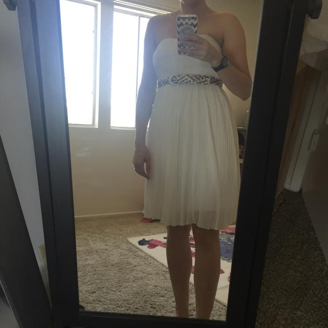 Item - White 7288-868 Knee Length Night Out Dress Size 6 (S)