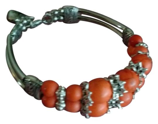 Other Coral and Tibetan silver beaded boho bracelet