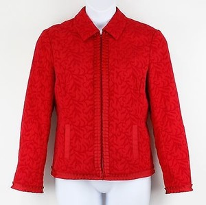 Coldwater Creek Red Textured Jacket