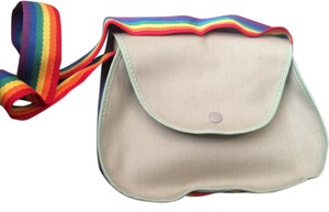 Avon Vintage Rainbow Khaki Shoulder Bag