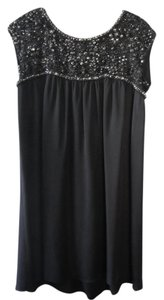 Alice + Olivia Babydoll Beaded Embellished Embroidered Silk Dress