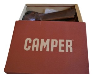 Camper Leather Rubber Side Riding Cognac Boots