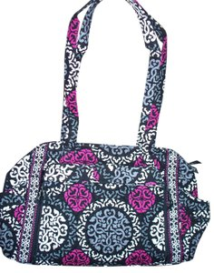 Vera Bradley Make A Changie Bottle Paci Pod Canterberry Magenta Black Gray Diaper  Bag 12def024d1625