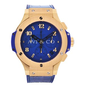 Hublot Hublot Big Bang 41 Red Gold Tutti Frutti Blue Dial Blue Strap