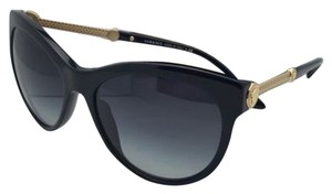 Versace New VERSACE Sunglasses VE 4292 GB1/8G 57-17 Black & Gold Frames w/ Gray Gradient Lenses