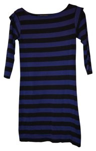 French Connection short dress Blue Black Stripes on Tradesy
