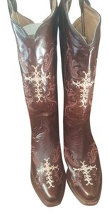 Corral Boots Leather Cross Cowboy Brown Boots