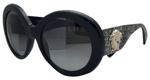 Versace New VERSACE Sunglasses VE 4298 5156/11 55-20 Black & Gold Glitter Frame w/ Gray Gradient Lenses