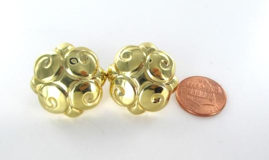 Other 14KT SOLID YELLOW GOLD EARRINGS BUTTON SWIRL DESIGN 7.1 GRAMS FINE JEWELRY JEWEL