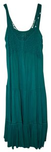 Marciano short dress Green/Teal Jersey Green Lace on Tradesy