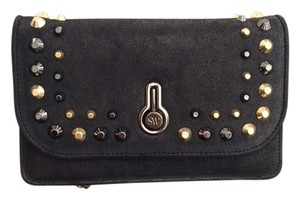 Stuart Weitzman Leather Casual Party Studded Cross Body Bag