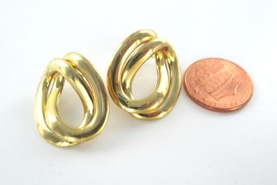Other 14KT YELLOW GOLD HOOP DOUBLE BUTTON MADE IN ITALY 4.9 GRAMS EARRINGS FINE JEWEL