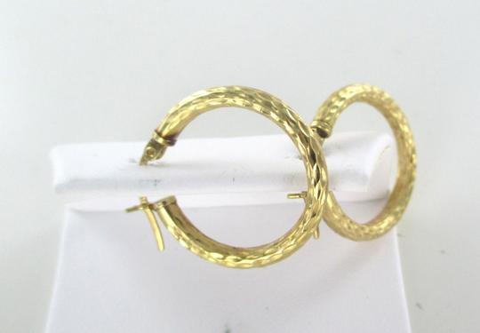 Other 14KT SOLID YELLOW GOLD EARRINGS ETCHED HOOP 1.7 GRAMS FINE JEWELRY JEWEL KARAT