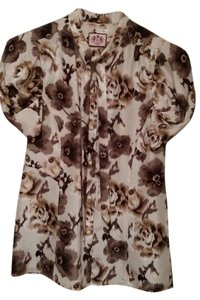 Juicy Couture With Neck Top Ikat Floral Print