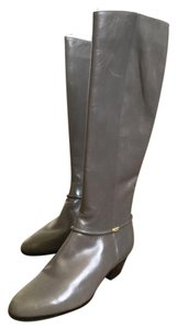 Salvatore Ferragamo Vintage Leather Boot Grey Boots