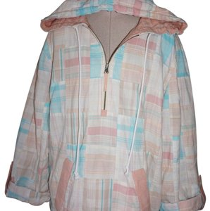 Vineyard Vines Pastel Patchwork Hoodie Jacket