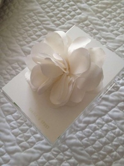 White Silk Taffeta and Tulle Pin Hair Accessory