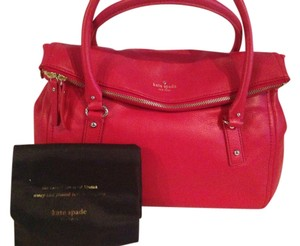 Kate Spade Cobble Hill Shoulder Satchel in persimmon red