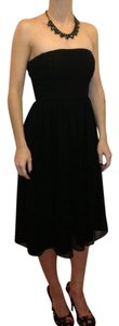 J.Crew Empire Waist Chiffon Bridesmaid Silk Strapless Dress