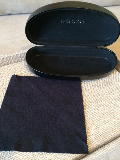Gucci Gucci Black Leather Sunglass Case