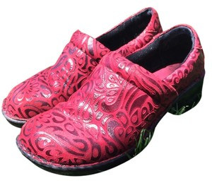 B.O.C. Red tooled Mules