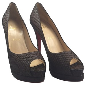 Christian Louboutin Chocolate Brown Platforms