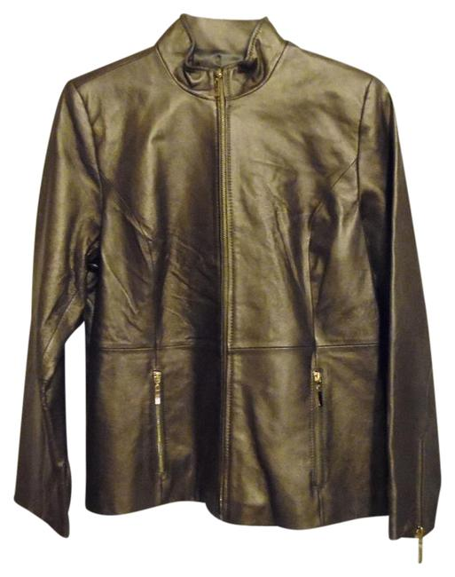 Preload https://item3.tradesy.com/images/terry-lewis-classic-luxuries-brown-pearlized-zip-front-leather-jacket-size-10-m-1493217-0-2.jpg?width=400&height=650
