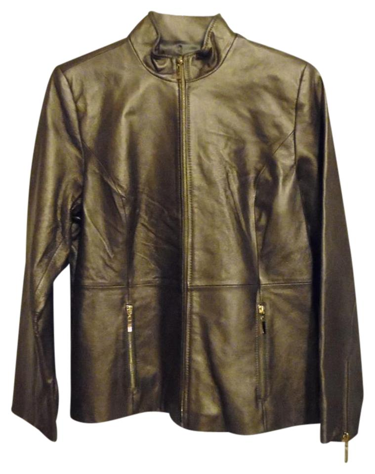 e8e3836e171 Terry Lewis Classic Luxuries Brown Pearlized Zip Front Jacket Size ...