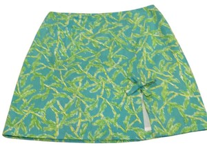 Lilly Pulitzer Mini Skirt Torquoise, green, yellow and white