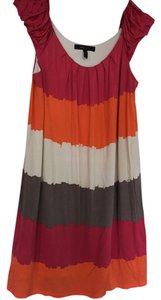BCBGMAXAZRIA short dress Orange, cream and pink on Tradesy