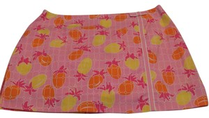 Lilly Pulitzer Skort Shades of pink, white, yellow and orange