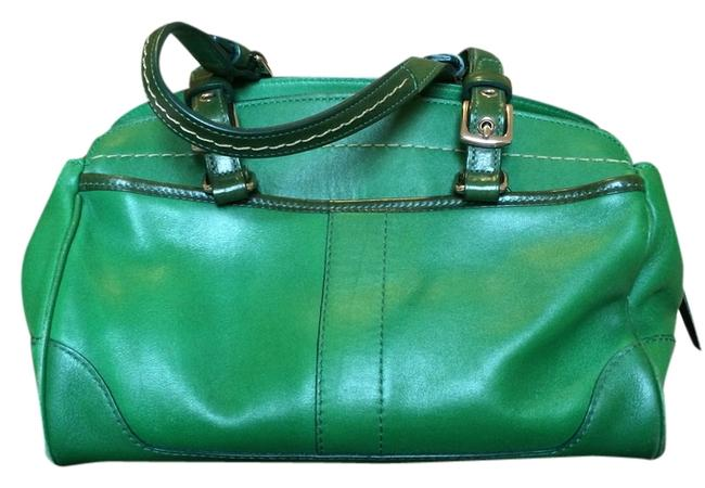 Coach Style 7465 Kelly Green Leather Satchel Coach Style 7465 Kelly Green Leather Satchel Image 1