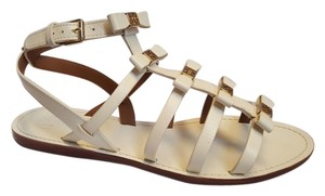 Tory Burch Flats Summer White Gladiator Bleach White Sandals