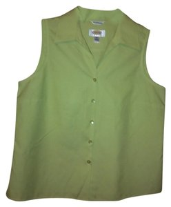 Talbots Button Down Shirt green