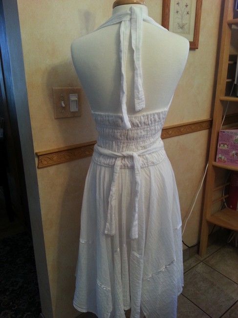white Maxi Dress by Other Halter Cotton Linen