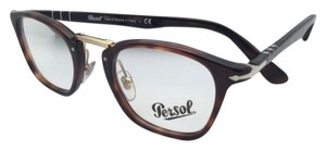 Persol New PERSOL Eyeglasses Typewriter Edition 3109-V 24 47-22 Havana Frame w/ Clear